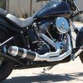 D&D フルエキ Harley Softail Bobcat 00-11 575-32BBQ