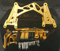 G.selections / YAMAHA YZF-R1 07-08  レーシングステップキット ゴールド CNC Adjustable Race Rearset Rear Set Foot Rest Peg Gold 2007-2008 YAMAHA YZF R1