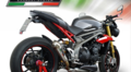 GPR PC Powercone(公道仕様) シングルローマウント スリップオン マフラー Triumph Speed Triple S/R 2016-  T.87.PC