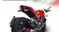イタリア GPR GPE EVO POPPY カーボン スリップオン マフラー (触媒付き公道仕様)DUCATI MONSTER 821 2015-D.115.GPEPO