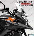 グラフィック デカール HONDA NC700X  ホワイト オレンジ