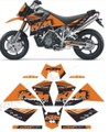 グラフィック デカール KTM 950 SUPER MOTO FORMANU DESIGN