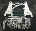 G.selections / YAMAHA YZF-R1 07-08 レーシングステップキット シルバー CNC Adjustable Race Rearset Rear Set Foot Rest Peg silver 2007-2008 YAMAHA YZF R1