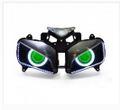 Demoneyes デーモンアイ HID プロジェクター LED ヘッドライトユニット グリーン ホンダ CBR1000RR 2004-2007