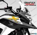 グラフィック デカール HONDA NC700X RACING  ブラック ORO