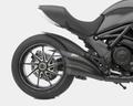 ZARD BSS/CF/RACE スリップオン マフラー ステンレス(黒)カーボンエンド 競技走行専用 Ducati Diavel 10- ZD117SSRBFC