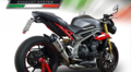 GPR GPE EVO TITANIUM (公道仕様) シングルローマウント スリップオン マフラー Triumph Speed Triple S/R 2016-  T.87.GPETO