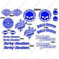 グラフィック デカール AZUL HARLEY DAVIDSON ハーレー SCREAMIN EAGLE ブルー