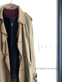 50%OFF*ラスト1点*Raw+ロウタス LINENSILK×LEATHER TRENCH COAT(WASHED)