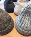 prit wool手編みニット帽(03グレー)