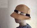 マチュアーハ mature-ha. BIRDS' WORDS Collaboration BOXED HAT raffia 7cm brim