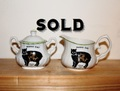 MANX CAT Small Bowl and Creamer Set