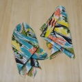 "APC-015 Pocket square Vintage Fabric  ""Japanese Style Pattern"""
