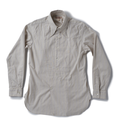 """AS-094 """"flamboyant × Adjustable Costume"""" ORIGINAL COTTON DOBBY STRIPE ARCHED LONGPOINT COLLAR CLASSIC SHIRT"""