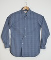 AS-106 COTTON CHECK (VINTAGE FABRIC~WAIN SHELL~) ARCHED LONG-POINT COLLAR CLASSIC SHRT