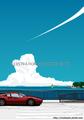 海風を追いかけて 湘南イラスト版画作品
