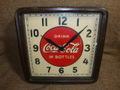 Coca Cola電気時計(木枠仕様、壁掛けタイプ)