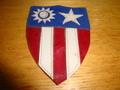 WW2 CBI 米国陸軍袖章レザーパッチ(オリジナル品)