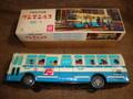 日本製の都バスCoke広告表記、ブリキ製バス