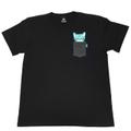 NYALTAIR POCKET T-shirt【Black × Emerald】