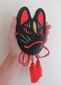 飾り仙狐面(黒)