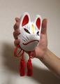 飾り仙狐面(白)