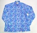 BURBANK バーバンク 長袖フルオープンB/Dシャツ(マーブル)
