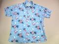 SUNSURF サンサーフ 半袖 B/D ニットシャツ(サックス)
