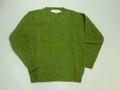 JOHN TULLOCH ジョンタロック 丸首シャギードッグセーター(グリーン ORIVE GROVE)
