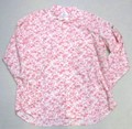 ARVOR MAREE アルボーマレー 長袖オープンプリントシャツ(ピンクのバラ)