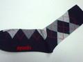 My Socks マイソックス コットンアーガイルソックス(ブラック)