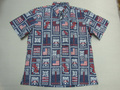 REYN SPOONER レインスプーナー 半袖フルオープンB/Dシャツ(独立記念2021 ドレスブルー)