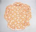 ARVOR MAREE アルボーマレー 長袖オープンプリントシャツ(フラワーオレンジ)