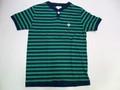 ARVOR MAREE アルボーマレー 半袖ボーダーヘンリーTシャツ(グリーン×ネイビー)