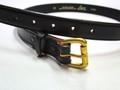 TORY Leather Co. トライレザー ローラーバックルベルト(ブラック)