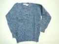 LAURENCE J SMITH ローレンス ジェイ スミス 丸首シャギードッグセーター(ネイビーMIX)