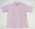 BURBANK バーバンク 半袖フルオープン プリントB/Dシャツ(ダイヤフラワー)