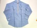 SUGAR CANE シュガーケーン ハーフジップワークシャツ(ブルーシャンブレー)