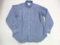 1015 長袖ヘビイシャンブレーB/Dシャツ(ブルー)