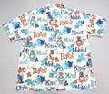 SUNSURF サンサーフ 半袖 マスクドマーベルオープンシャツ(PINEAPPLE HEAVEN ホワイト)