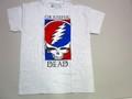 US ROCK ユーエスロック USロックTシャツ(グレイトフル デッド スカル アッシュグレー)