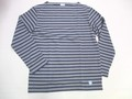 ORCIVAL オーチバル 長袖バスクシャツ(DKグレイ×ネイビー)