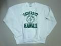 HAWAII ハワイ大学 プリント・スウェット(ホワイト)