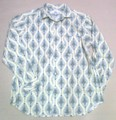 ARVOR MAREE アルボーマレー 長袖オープンプリントシャツ(ブルーペイズリー)