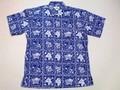 REYN SPOONER レインスプーナー 半袖フルオープンB/Dシャツ(ラハイナセーラー ネイビー)