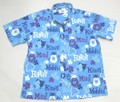SUNSURF サンサーフ 半袖 マスクドマーベルB/Dシャツ(PINEAPPLE HEAVEN ブルー)