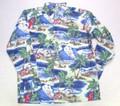 REYN SPOONER レインスプーナー 長袖フルオープンB/Dシャツ(2016 クリスマス BLUE)