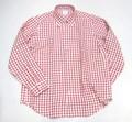 1015 長袖リネン B/Dシャツ(レッドギンガム)