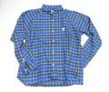 ARVOR MAREE アルボーマレー ソフトネルマリンシャツ(ブルーイエローチェック)
