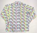 BURBANK バーバンク 長袖フルオープンB/Dシャツ(グレイ クレスト)